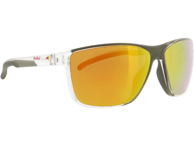 Red Bull SPECT Drift Gafas de Sol Hombre, x'tal clear/brown with orange mirror polarized